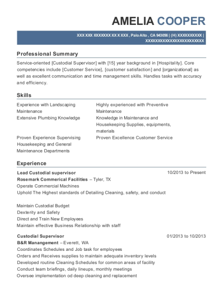 Best General Maintenance Supervisor Resumes | ResumeHelp