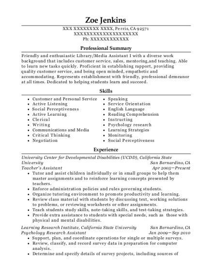 Best Psychology Research Assistant Resumes | ResumeHelp