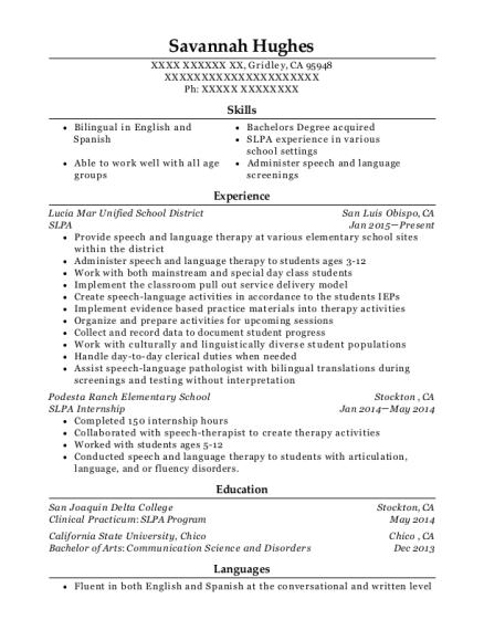 best slpa resumes resumehelp