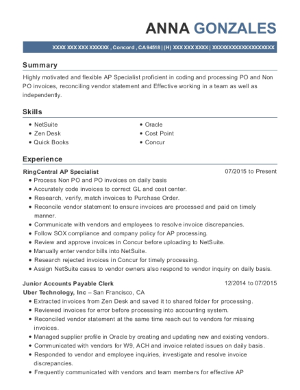 best junior accounts payable clerk resumes resumehelp