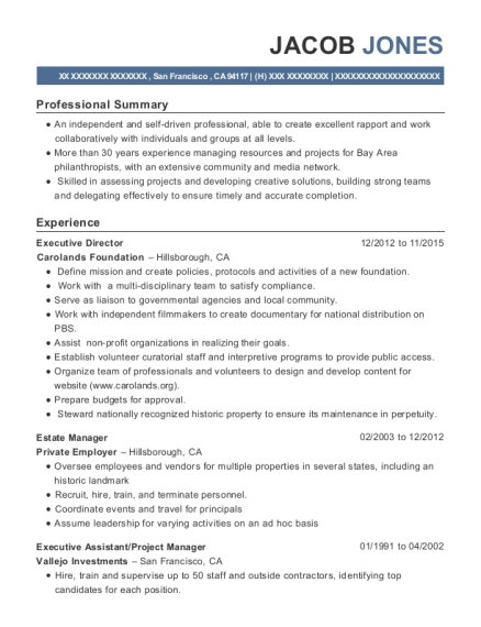 Jacob Jones  Assistant Project Manager Resume