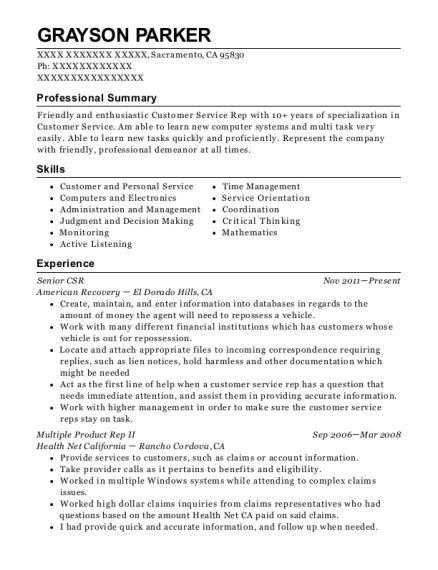 t mobile csr 2 resume sample albuquerque new mexico resumehelp