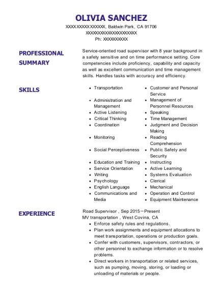 olivia sanchez - Maintenance Clerk Sample Resume