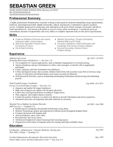 Best Nurse Staffing Coordinator Resumes | ResumeHelp