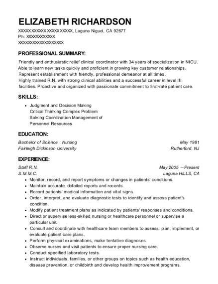 Best Clinical Charge Rn Resumes | ResumeHelp