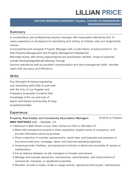 Awesome Estate Manager Resume Los Angeles Photos - Resume Ideas ...