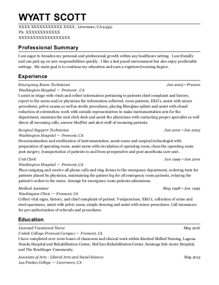 support technician resumes