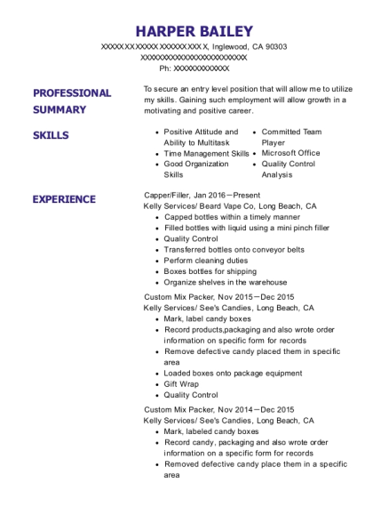 time management skill resume