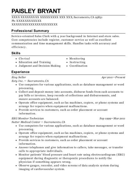Facebook Twitter Google Ekg Technician Salary Nc View Resume