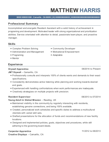 view resume - Resident Assistant Resume