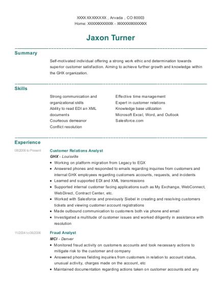 Ibotta Fraud Analyst Resume Sample Denver Illinois Resumehelp