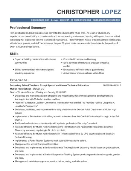 Best Social Studies Teacher Resumes | ResumeHelp