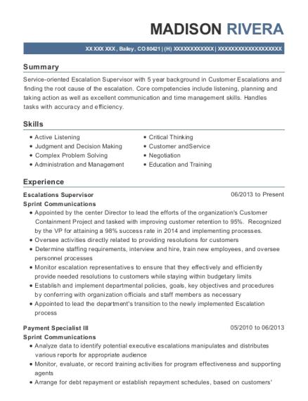 Sprint Retail Consultant Resume Sample - Sacramento California ...