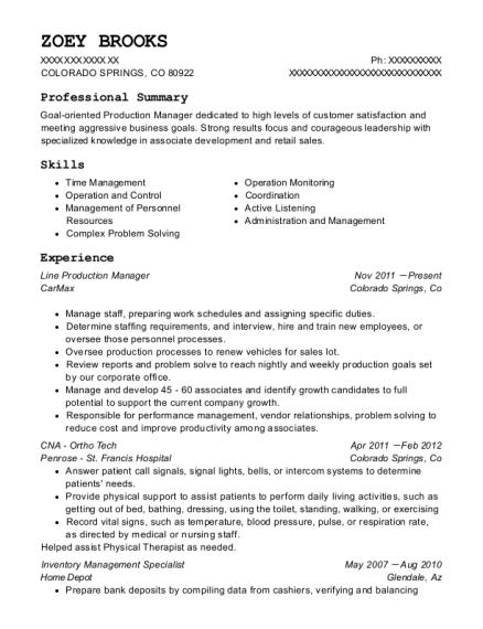inventory management specialist resume