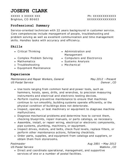 united states postal service postmaster resume sample