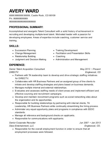 Best Senior Corporate Recruiter Resumes Resumehelp