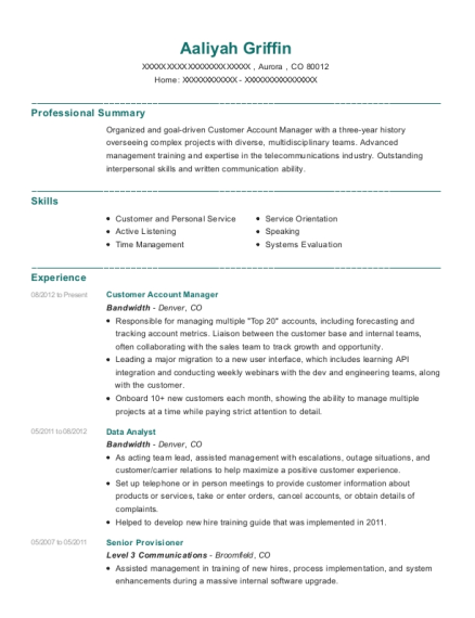 Best Customer Account Manager Resumes | ResumeHelp