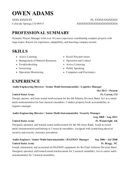 Best Stage Technician Resumes | ResumeHelp