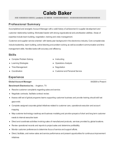 sales associate global account manager customize resume view resume - Global Account Manager