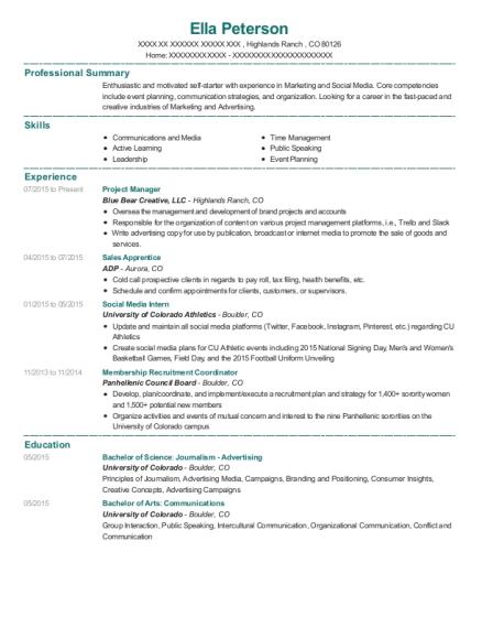 adp sales apprentice resume sample bloomfield hills michigan