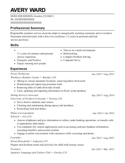correspondent resume