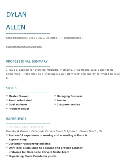 Glam Slam Consignment Boutique Founder & Owner Resume Sample - Soddy ...