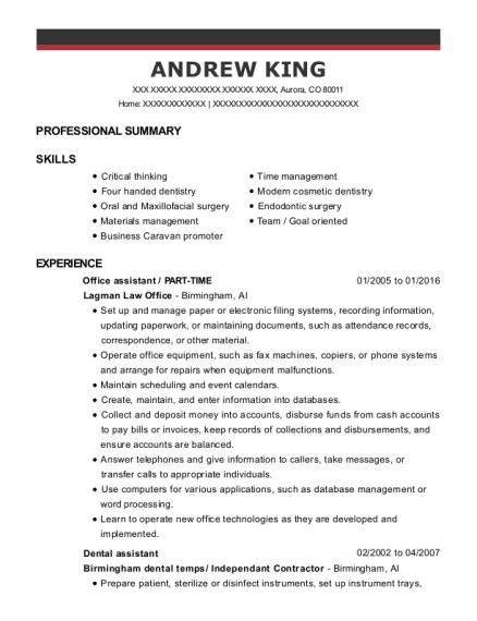 View Resume. Office Assistant ...