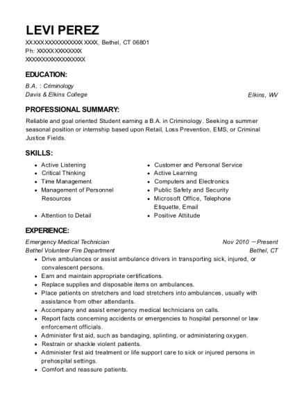 Best Emergency Medical Technician Resumes | ResumeHelp