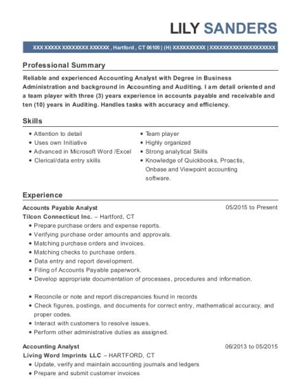 Best Accounts Payable Analyst Resumes   ResumeHelp
