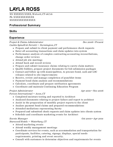 Layla Ross  Events Manager Resume