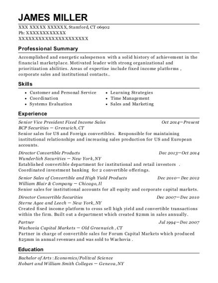 best senior vice president fixed income sales resumes resumehelp