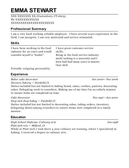 best baker cake decorator resumes resumehelp