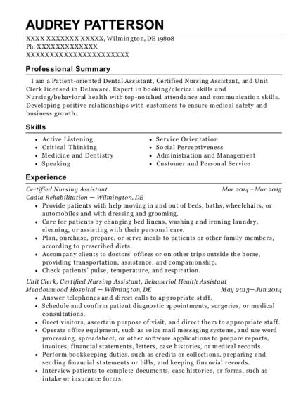 Best Dental Assistant/intern Resumes | ResumeHelp