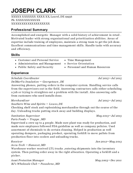 Best Asset Protection Manager Resumes | ResumeHelp