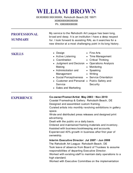 william brown - Executive Director Resume