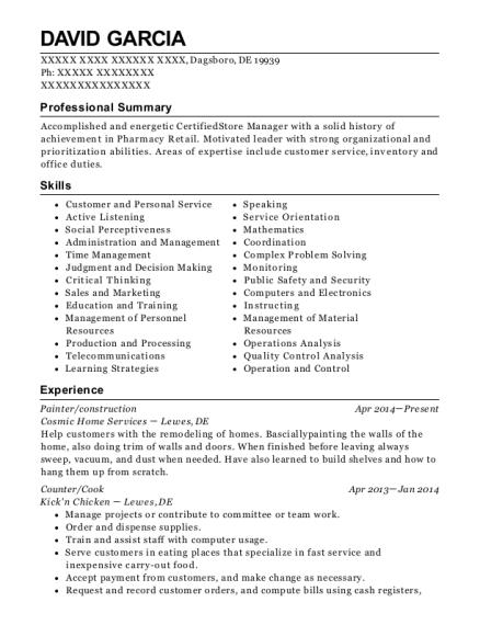 david garcia dairy manager sample resume - Dairy Farm Manager Sample Resume