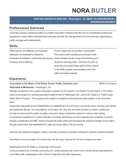 public affairs resume