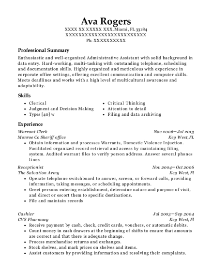 View Resume  Best Receptionist Resume