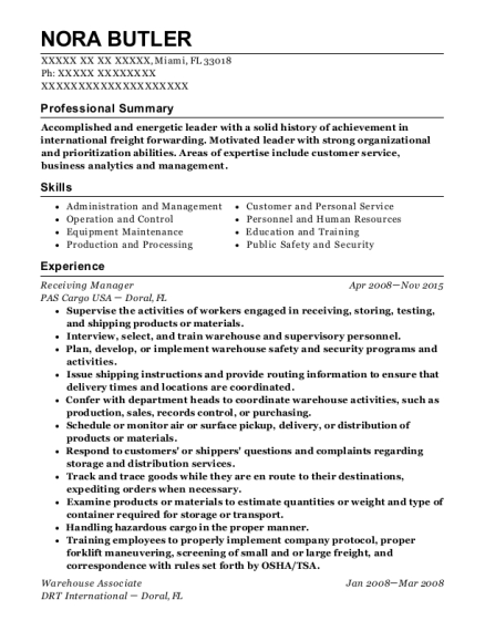 Natural Grocers By Vitamin Cottage Receiving Manager Resume Sample ...