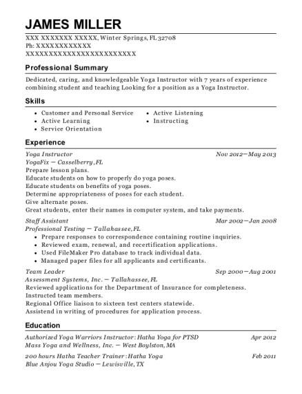 adjunct instructor resume sample yoga instructor resume unique