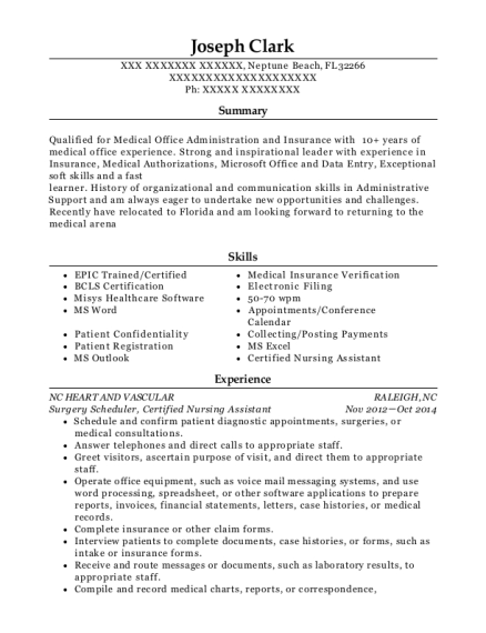 Best Surgery Scheduler Resumes | ResumeHelp