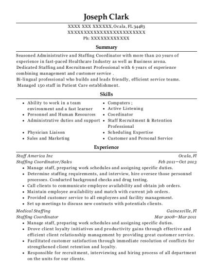 joseph clark - Staffing Coordinator Resume