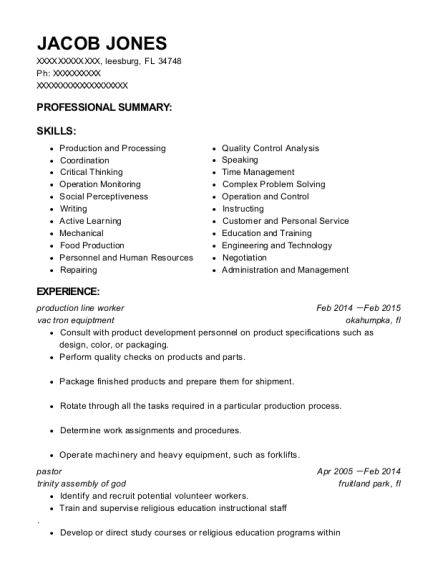 Office Assistant , Production Line Worker. Customize Resume · View Resume
