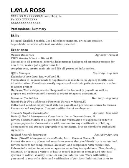 Best Medical Records Supervisor Resumes   ResumeHelp