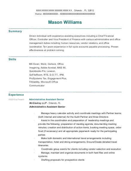 Exceptional View Resume