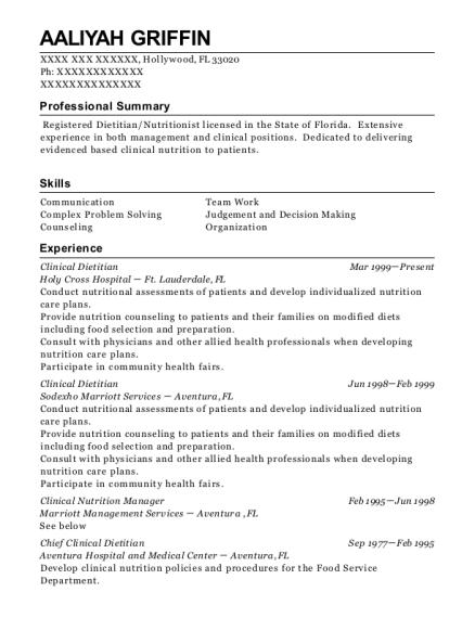Best Clinical Dietitian Resumes | ResumeHelp