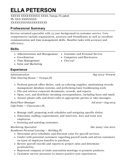 Best Marketing Specialist Resumes ResumeHelp