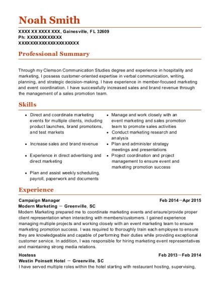 Best Campaign Manager Resumes | ResumeHelp