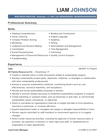 view resume - Case Manager Resume