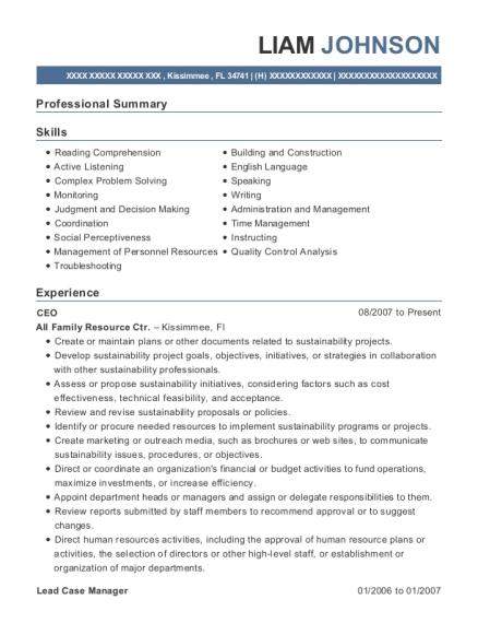 Best Lead Case Manager Resumes | ResumeHelp